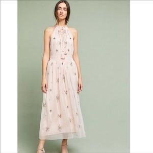 Anthropologie Chan Luu Amiens Halter Maxi Dress